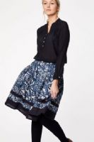 Blue Patterned Skirt by Thought - WWB3787 - Lovelace